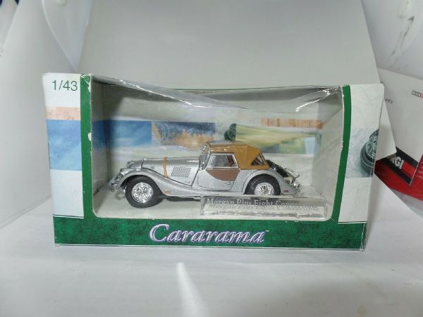 Cararama Oxford  1/43 O Scale Morgan Plus Eight Cabrio Closed Silver